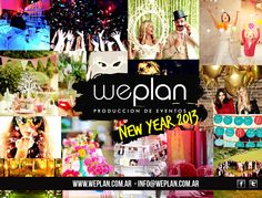 Flyer fin de año para We Plan eventos