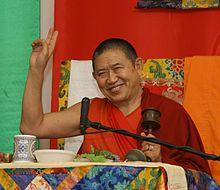 Garchen Rinpoche (born: 1936, east Tibet) is a Tibetan Buddhist teacher in the Drikung Kagyu lineage
