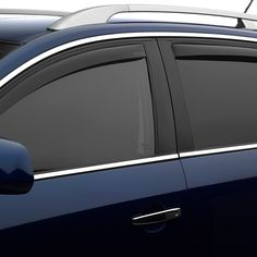 WeatherTech 82553 Series Dark Smoke Front/Rear Side Window Deflector Set - Side Window Deflectors WeatherTech(R) Side Window Deflectors, offer fresh air enjoyment with an original equipment look, installing within the window channel. They are crafted from the finest 3mm acrylic material available. Installation is quick and easy, with no exterior tape needed. WeatherTech(R) Side Window Deflectors are precision-machined to perfectly fit your vehicle's window channel. These low profile window…