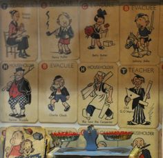 Original WW2 card game 'Vacuation' in the Home Front Museum, Llandudno, Wales. Fabulous to see.  I have a replica set only.