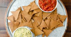 "Our homemade tortilla chips are screaming ""party time"" when you pull them out of the oven and take in the wafting aroma! We have put our best foot forward with Flour Tortilla Chips, Homemade Tortilla Chips, Homemade Tortillas, Flour Tortillas, Whole Wheat Tortillas, Grain Foods, Chips Recipe, Grinding, Guacamole"