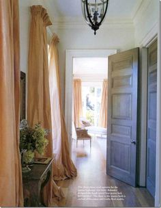 i just love the way these drapes puddle on the floor......