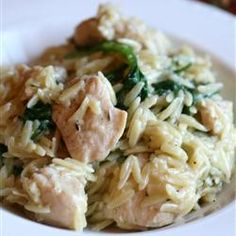 "**Very very good!**Garlic Chicken with Orzo | ""So easy and so good. Had a request for the recipe immediately after dinner!"""
