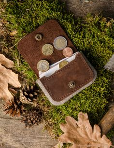 Wool Felt Cardholder & Wallet | Wood brown