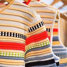 #SUNONY #SS15 Ottoman Sweater - Multistripes Knit Ottoman Tunic Dress - Multistripes Knit
