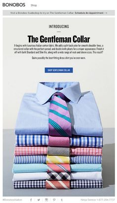 Love the shirt and tie combos