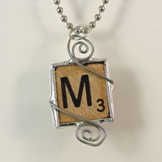Scrabble Letter M Pendant Necklace by XOHandworks on Etsy, $20.00