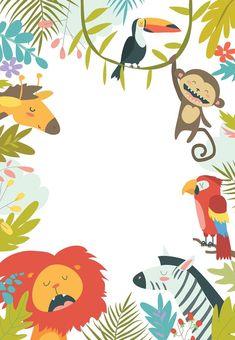 Safari Invitation Template Free Awesome Wild Animals Birthday Invitation Template Free In 2020 Party Animals, Animal Party, Safari Invitations, Wild One Birthday Invitations, Create Invitations, Wedding Invitations, Jungle Theme Birthday, Animal Birthday, Safari Party