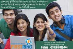 Firstring global online tution we have made it our mission to help every child prepare to the best of their ability for 11+ and GCSE exams more details : http://www.gotedu.co.uk/ Student Reg : http://www.gotedu.co.uk/StudentRegistration.aspx?From=Basic 11-04-2016(065)