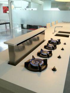 Brugge, spierwit betonnen keukenmeubel | Betonkeuken
