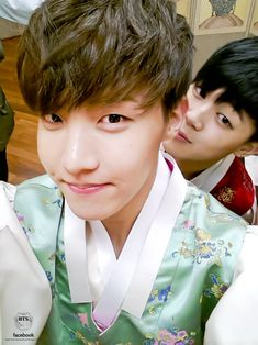 J-Hope & Jimin, BTS' official facebook update