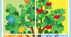 Ένα εκτυπώσιμο παιχνίδι, για να μάθουν τα παιδάκια σας τις 4 εποχές. My Job, Preschool, Teaching, Education, Book, Kid Garden, Kindergarten, Onderwijs, Book Illustrations