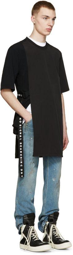 D by D Black Side Strap T-Shirt