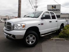 2008 Dodge Ram 2500 This 4X4, 8 cylinder crew-cab has many great features including: 4-wheel disc brakes, Power Package (steering, mirrors, locks etc), variable speed intermittent wipers, heated mirrors, sliding rear window, running boards, trailer hitch, cloth bucket seats, air, CD player and satellite radio. Hughes Motor Products 416-252-1100 | info@hughesmotorproducts.com