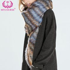 Find More Scarves Information about MYCOURSE Warm Women Scarf Tassel Winter Scarf Women Shawls  Autumn Winter Scarf Colorful Acrylic Stripe Scarves 130 x 140 cm,High Quality scarf beanie,China scarves pictures Suppliers, Cheap scarf jewelry from MYCOURSE on Aliexpress.com