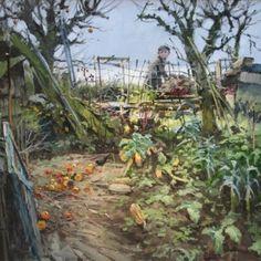 British Artist John LINES-Blackbird Breakfast