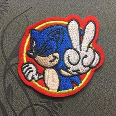 Sonic Patch iron on patches Sew on patches Cartoon patch Iron on applique