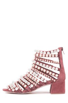 Jeffrey Campbell Shoes TIBONI-PRL New Arrivals in Dark Pink Pearl