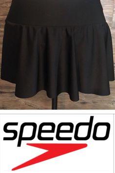 Womens SPEEDO Swimwear Black Swim Skirt Size 12 #Speedo #SwimSkirt