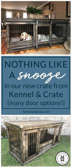 Designer indoor single or double dog kennels! Replace your wire dog crate with a beautiful piece of functional furniture! Great conversation piece!#Kennelandcrate#Customorders#Stylishdogkennel#dogkennel#Dog