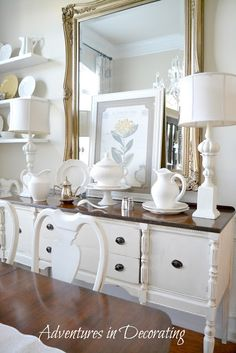 shabby chic hutch...Adventures in Decorating