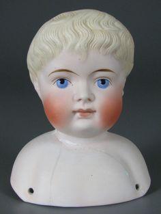 German bisque doll head by Alt, Beck & Gottschalk, 1880-1900.