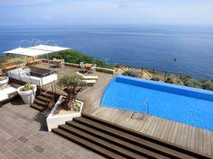 Infinity pool at Faro Capo-Spartivento - Photo by Andrew Harper via @harpertravel