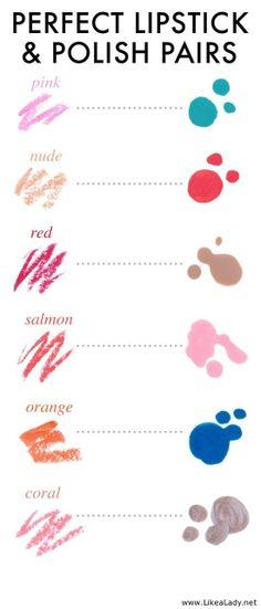 Lipstick and polish. Fun to try @Natily Dogom @Natalie Kemeny