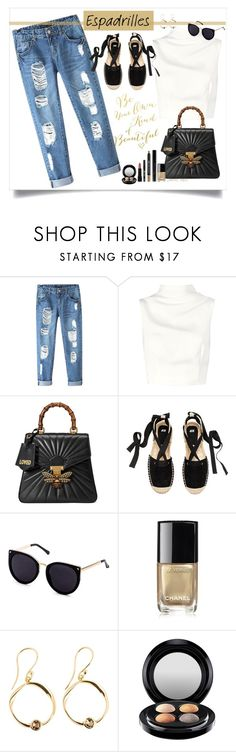 """""""Into sumner"""" by grachy ❤ liked on Polyvore featuring Chicnova Fashion, Keepsake the Label, Gucci, Chanel, MAC Cosmetics, Forever 21, Summer, espadrilles, contestentry and polyvoreeditorial"""