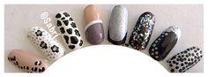 My new #naildesigns: #halfmoon #french #dot #animalprint #bling #black #nude #white #silver #nailart. #Nails #Uñas #Unghie #Ongles #Unhas #Nailpolish #Esmalte #Smalto #Émail. #Beauty #Belleza #Bellezza #Beauté #Beleza #Cosmetics #Cosméticos #Cosmetici #produitsdebeaute #fabat40.