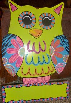 Medium Handmade Wooden Owl Door Hangers / by OnTheBrightSideArt, $35.99