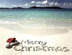 Cool picture... but I could never spend Christmas on a beach!