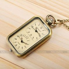 Retro Dual Time Zone Pendant Pocket Women Lady Mens Necklace Quartz Watch Chain by Shark. $1.49. Description: 1. Necklace series pocket watch is the best gift for your love, seniority or yourself. 2. Can be a nice match for jeans wear or evening dress. 3. Elegant design with precise quartz movement. 4. Retro watch case brings you back to your memory in youth. 5. Dual time design style and display two different times.. Save 57% Off!