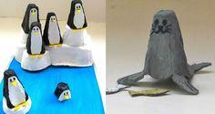 Creatius animals del fons marí fets amb oueres de cartró / tot nens