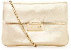 ShopStyle: MICHAEL Michael KorsSloan Clutch, Pale Gold