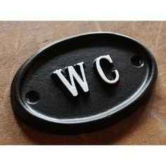 Solid Br Wc Toilet Door Sign Vintage Antique Victorian Cast Loo Bathroom Water Closet Old Embossed Style Bath 09 Office Lobby