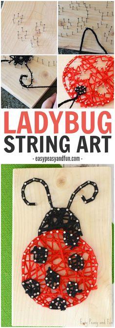 Ladybug String Art