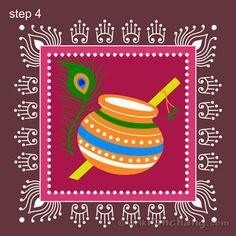 Janmashtami Rangoli Step 4