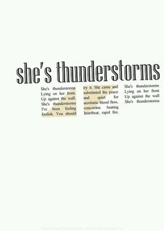 Arctic Monkeys She's thunderstorms lyrics