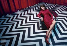 Elle magazine Twin Peaks photo shoot (5) – waiting for the dancing dream man.