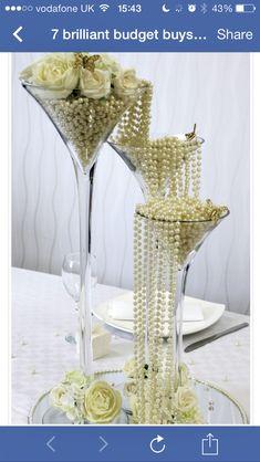 Pearls centrepiece