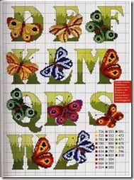 Butterfly alphabet