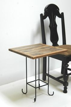 Barn Wood Table Stand Reclaimed Square Top by realwoodworks1