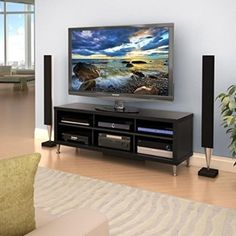 awesome Prepac Series 9 Designer TV Stand, 55-Inch - For Sale Check more at http://shipperscentral.com/wp/product/prepac-series-9-designer-tv-stand-55-inch-for-sale/