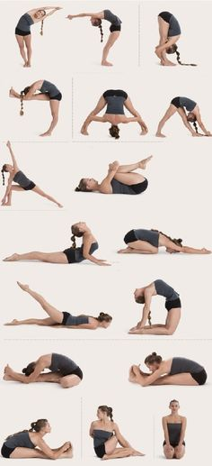 stretches from bikram yoga.. I can only do some of them on my own level... But ya know whatever works... I am sooo not flexible