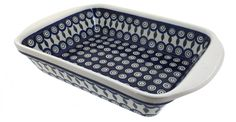 Polish Pottery Peacock Large Rectangular Baker with Handles *** Unbelievable offers are coming! : Bakeware
