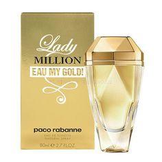 Lady Million Eau My Gold! by Paco Rabanne 2.7 OZ Eau De Toilette Spray