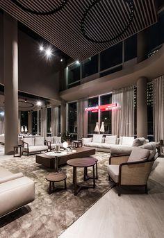 Sofa Design, Contemporary Furniture, Furniture Making, Bookshelves, Amsterdam, Lounge, Living Room, Store, Ceilings