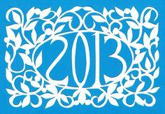 Happy New Year! - original papercut by Judy Hartman