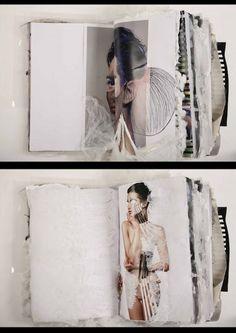 Creative Fashion Sketchbook - mixed media sketchbook pages; fashion design portfolio inspiration // Ania Leike